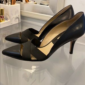 Michael Kors Black Stephanie Elastic-Strap Pump